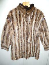 "Ladies real North American Raccoon fur coat/gilet size UK 14 bust 42"" length 32"""