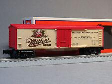 LIONEL MILLER BEER REEFER O GAUGE train freight die cast trucks brew 6-83657 NEW