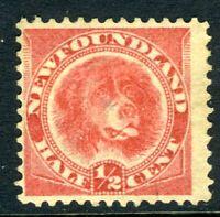 Canada 1896 Newfoundland ½¢ Dog ROSE Red Scott #57 Mint A678 ⭐⭐⭐⭐⭐⭐