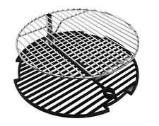 Premium Chrome Barbecue BBQ Broil Big Steel Keg Cast Iron Grill Cooking Grate