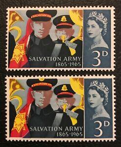 GB SG 665 Error Stamp Bondsman with White Eyes + Normal MNH QEII