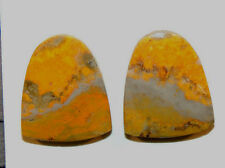 BumbleBee Jasper Cabochons 20x17mm from Indonesia 5mm thick set of 2 (9190)