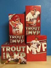 2017 Mike Trout Bobblehead Lot of 4 Angels SGAs  5-5-17 7-18-17 8-4-17 8-22-17
