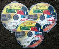 COUNTRY HITS OF THE 90'S 3 CDG DISCS CHARTBUSTER KARAOKE 50 SONGS CD+G 5009