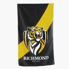 Official AFL Richmond Tigers Supporters Wall Cape Banner Flag 90 x 150 cm