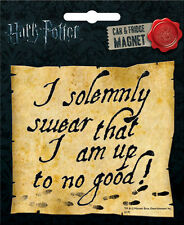 """Harry Potter Car Magnet: """"I solemnly swear that I am up to no good!"""""""