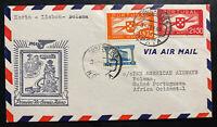 1941 Horta Portugal First Flight Airmail Cover FFC To Portuguese Guinea