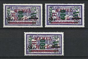 DR Memel WWI Germany Rare WWI Stamps 1923 Overprint Service Stamp 119-123 Set