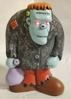 HALLOWEEN VTG 1989 GRAVEYARD GHOULIES 7'' FRANKENSTEIN MOTION ACTIVATED DECOR