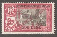 French India 1943,France Libre ,6ca on 2r,Scott # 201,VF MLH*OG (FC-4)
