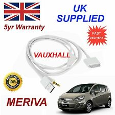 Vauxhall  MERIVA For Apple iPhone 3GS 4 4S iPod USB & Aux Audio Cable White