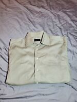 Canali Mens long sleeve Dress Shirt tan size 16 41 made in italy