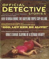 ORIGINAL Vintage October 1965 Official Detective Stories Magazine GGA