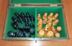"""Vintage French Lardy Staunton Tournament Chess Set 4.25""""K with Prominence"""