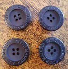 """4 STEVE MADDEN Button Set New 1"""" Jacket Buttons 4 Hole Flat"""
