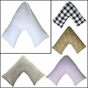 Polycotton V Shape Plain Pillow Case Only, Pregnancy Support