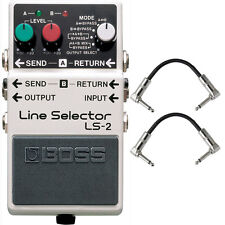 Boss LS-2 Line Selector/Power Supply Pedal Stompbox Footswitch + Patch Cables