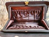 Vintage  Ladies Gucci Brown Evening Clutch Bag Handbag Genuine