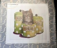 NIP Cookie Time Kitten in Cookie Cannister Counted Cross Stitch Thea Gouverneur