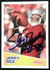 2008 Upper Deck Kellogg's JERRY RICE Autograph Card SP W/COA