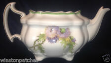 ROYAL DOULTON ENGLAND GLAMIS THISTLE SQUARE TEAPOT NO LID 36 OZ GREEN BAND