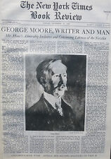 THE LIFE OF GEORGE MOORE - JOSEPH HONE - 1936 November 15 NY Times Book Review