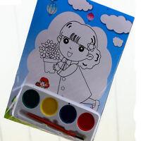 2x DIY pintura acuarela Set 4 colores niños dibujo juguete educativo niñosK