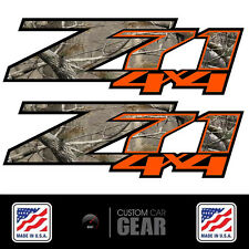 Z71 4x4 CAMO Orange Decal Stickers Chevy 2007 2008 2009 2010 2012 2013 Silverado