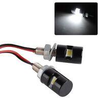 2X White LED SMD Motorcycle&Car License Plate Stud Screw Bolt Light lamp bulb US