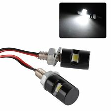 2X White LED SMD Motorcycle&Car License Plate Stud Screw Bolt Light lamp bulb US