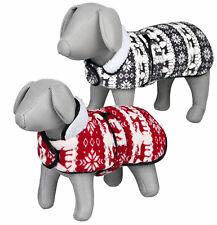 Trixie Christmas Winter Wonderland Themed Dog Coat, 25cm, Two Colour Options