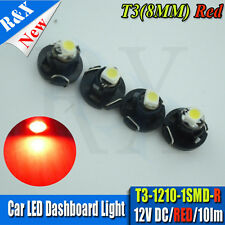 10x LED T3 8mm Neo Wedge 39397 HID Red Dashboard Cluster Speedo Instrument Bulb