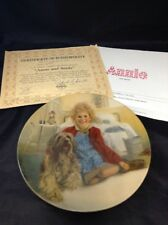 Annie and Sandy Knowles 1982 Collector Plate Plate # H1766 Little Orphan Annie