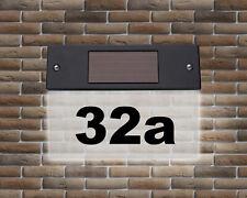 Led-Solar-Hausnummer Avec Eclairage LED Numéro de la Maison Lumineuse Plaque