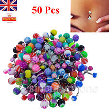 Lot 50 x Belly Button Navel Ring Bar Bars Body Piercing Jewellery Dangle Makeup