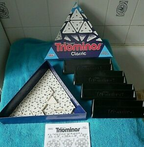 TRIOMINOS Classic Triangular Domino Board Game 100% COMPLETE (TRI-OMINOS) IDEAL