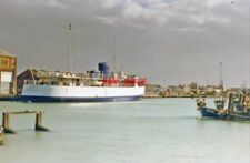 PHOTO  SUSSEX 1996 NEWHAVEN HARBOUR ?PLEASURE-SHIP 'SOUTHSEA' LAID UP IN RIVER O