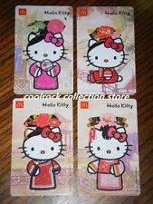 2016 China Mcdonalds Hello Kitty gift cards set of 4