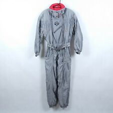 LUHTA Mens Grey Shiny Festival Snowsuit Ski Suit One Piece Snowboarding SIZE M