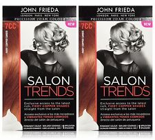 John Frieda Precision Foam Hair Color, Fiery Copper Sands, 7CC (Pack of 2)