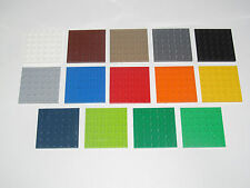 Lego ® Construction Plaque 6x6 Plate Platten Choose Color ref 3958