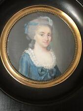Portrait miniature femme XVIIIème siècle