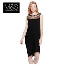 Lace Round Neck Sleeveless Dresses Midi