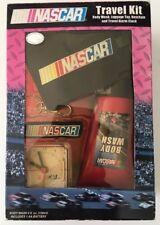 NASCAR TRAVEL KIT BRAND, lugage tag Keychain, travel Alaram Clock NEW