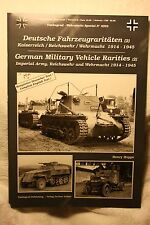 Tankograd German Military Vehicle Rarities (2) Book #4002 Brand New Condition