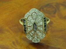 18kt 750 bicolor Gold Ring mit 0,44ct Brillant & 0,22ct Saphir Besatz / RG 55