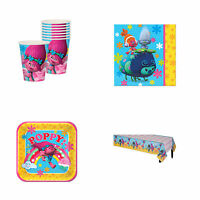 TROLLS BIRTHDAY PARTY PACK BIRTHDAY PARTY SUPPLIES PLATES CUPS NAPKIN TABLECOVER