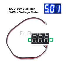 3 Wires 0.36 inch DC 0-30V LED Panel Voltage Meter 3-Digital Display Voltmeter