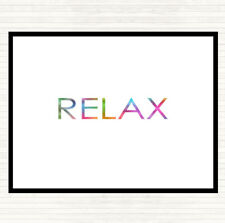 Relax Rainbow Quote Dinner Table Placemat