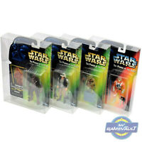 """Star Wars DISPLAY CASE for Power of The Force 3.75"""" Figure 0.5 PET Protector Box"""